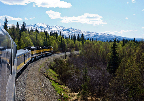 Add a train ride through the Alaska wilderness to your cruise.