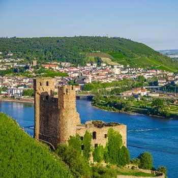 Ehrenfels Castle on Rhine
