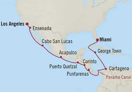 Perfect Cruise - Map Panama Canal Inaugural